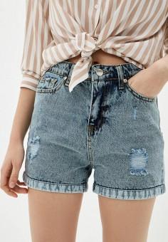 Шорты джинсовые, Savage, цвет: голубой. Артикул: SA004EWIYEL7.