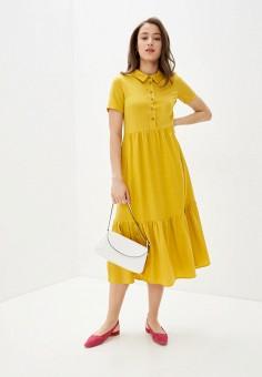 Платье, Savage, цвет: желтый. Артикул: SA004EWIYFV3. Одежда / Платья и сарафаны