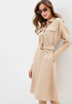 Платье, Savage, цвет: бежевый. Артикул: SA004EWIYFV7.