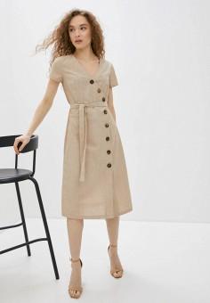 Платье, Savage, цвет: бежевый. Артикул: SA004EWIYGN6. Одежда / Платья и сарафаны / Повседневные платья