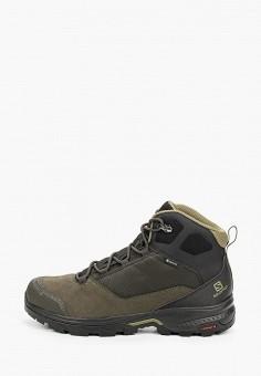 Ботинки трекинговые, Salomon, цвет: хаки. Артикул: SA007AMJONT5.