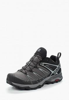 Ботинки трекинговые, Salomon, цвет: серый. Артикул: SA007AMUHK51. Обувь / Ботинки / Низкие ботинки
