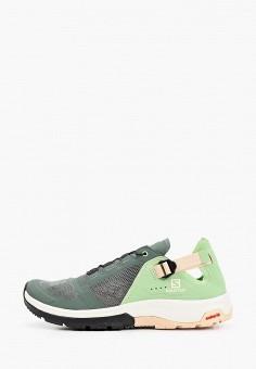 Кроссовки, Salomon, цвет: зеленый. Артикул: SA007AWHQYW0.