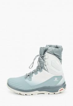 Ботинки трекинговые, Salomon, цвет: серый. Артикул: SA007AWJOOA5.