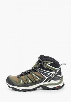 Ботинки трекинговые, Salomon, цвет: хаки. Артикул: SA007AWJOOB8.