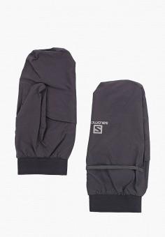 Варежки, Salomon, цвет: черный. Артикул: SA007DUFPBE7. Аксессуары / Перчатки и варежки
