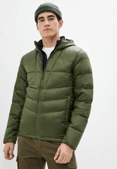 Пуховик, Salomon, цвет: зеленый. Артикул: SA007EMJONP1. Одежда / Верхняя одежда / Пуховики и зимние куртки