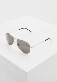 Очки солнцезащитные, Saint Laurent, цвет: золотой. Артикул: SA042DUHQQK2. Аксессуары