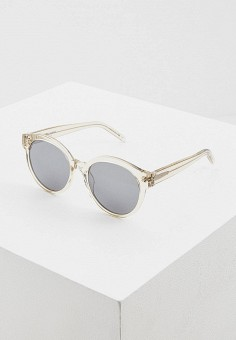 Очки солнцезащитные, Saint Laurent, цвет: серый. Артикул: SA042DWHQQM7. Аксессуары