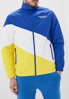 Ветровка, Saucony, цвет: мультиколор. Артикул: SA219EMFFHJ7. Одежда / Верхняя одежда / Легкие куртки и ветровки