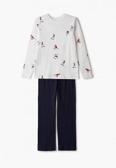 Пижама, Sela, цвет: белый, синий. Артикул: SE001EBIGMK7.