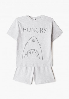 Пижама, Sela, цвет: серый. Артикул: SE001EBJEJU8. Мальчикам / Одежда