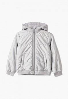 Куртка утепленная, Sela, цвет: серебряный. Артикул: SE001EGIGMN1. Девочкам / Одежда / Верхняя одежда / Куртки и пуховики