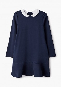 Платье, Sela, цвет: синий. Артикул: SE001EGKDVA6. Девочкам / Одежда / Платья и сарафаны