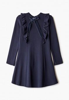 Платье, Sela, цвет: синий. Артикул: SE001EGKDVA7. Девочкам / Одежда / Платья и сарафаны