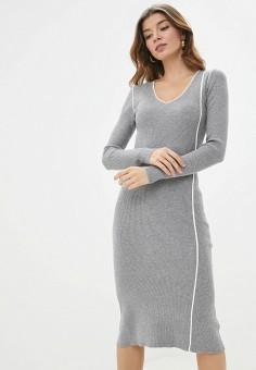Платье, Sela, цвет: серый. Артикул: SE001EWHXHM5.