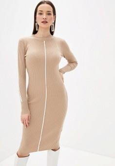 Платье, Sela, цвет: бежевый. Артикул: SE001EWHXHO6.