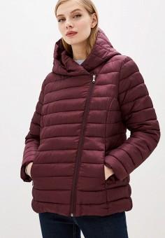 Куртка утепленная, Sela, цвет: бордовый. Артикул: SE001EWIWNI7. Одежда / Верхняя одежда / Демисезонные куртки