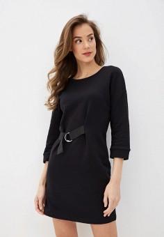Платье, Sela, цвет: черный. Артикул: SE001EWIWNN1.