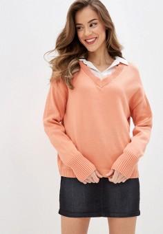 Пуловер, Sela, цвет: коралловый. Артикул: SE001EWIWNR1.