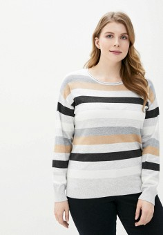 Джемпер, Sela, цвет: серый. Артикул: SE001EWIWNS3. Одежда / Джемперы, свитеры и кардиганы / Джемперы и пуловеры / Джемперы