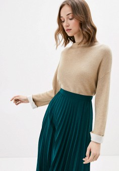 Джемпер, Sela, цвет: бежевый. Артикул: SE001EWIWNV3. Одежда / Джемперы, свитеры и кардиганы / Джемперы и пуловеры / Джемперы
