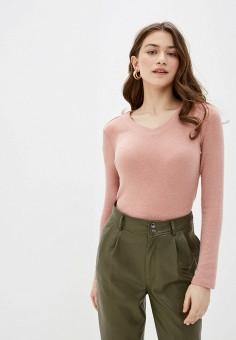 Пуловер, Sela, цвет: розовый. Артикул: SE001EWIWOW0. Одежда / Джемперы, свитеры и кардиганы / Джемперы и пуловеры