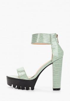 Босоножки, Sergio Todzi, цвет: зеленый. Артикул: SE025AWJFLI1. Обувь / Босоножки