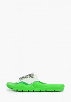 Сланцы, Sergio Todzi, цвет: зеленый. Артикул: SE025AWJFLK1. Обувь / Резиновая обувь