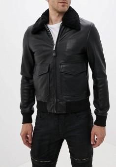 Куртка кожаная, Serge Pariente, цвет: черный. Артикул: SE050EMGJVR9. Одежда / Верхняя одежда / Кожаные куртки