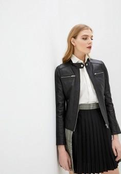 Куртка кожаная, Serge Pariente, цвет: черный. Артикул: SE050EWHGWI8. Одежда / Верхняя одежда / Кожаные куртки