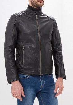 Куртка кожаная, Selected Homme, цвет: черный. Артикул: SE392EMDJVR9. Одежда / Верхняя одежда / Кожаные куртки