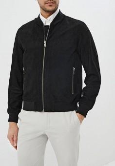 Куртка кожаная, Selected Homme, цвет: черный. Артикул: SE392EMEDVN4. Одежда / Верхняя одежда / Кожаные куртки