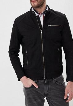 Куртка кожаная, Selected Homme, цвет: черный. Артикул: SE392EMEDVN6. Одежда / Верхняя одежда / Кожаные куртки