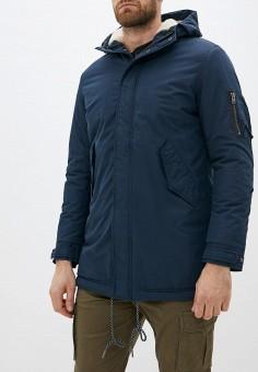 Парка, Selected Homme, цвет: синий. Артикул: SE392EMFKVD9. Одежда / Верхняя одежда / Парки