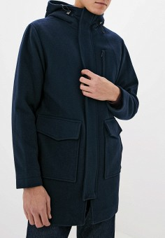Пальто, Selected Homme, цвет: синий. Артикул: SE392EMFKVQ2. Одежда / Верхняя одежда / Пальто