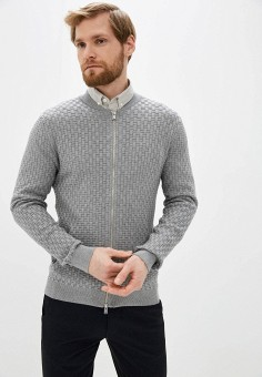 Кардиган, Selected Homme, цвет: серый. Артикул: SE392EMHTWD2. Одежда / Джемперы, свитеры и кардиганы / Кардиганы