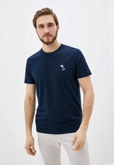 Футболка, Selected Homme, цвет: синий. Артикул: SE392EMHTWJ6. Одежда / Футболки и поло