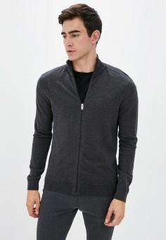 Кардиган, Selected Homme, цвет: серый. Артикул: SE392EMJPBV1. Одежда / Джемперы, свитеры и кардиганы / Кардиганы