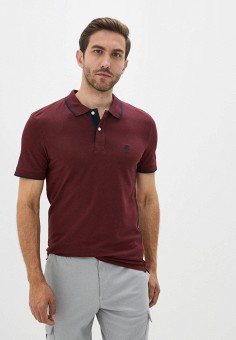 Поло, Selected Homme, цвет: бордовый. Артикул: SE392EMJPCA4. Одежда / Футболки и поло