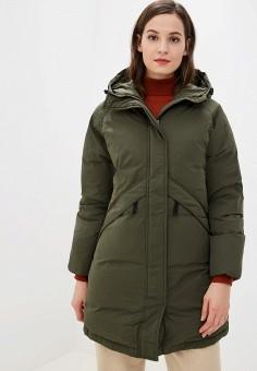 Пуховик, Selected Femme, цвет: зеленый. Артикул: SE781EWFKUW5. Одежда / Верхняя одежда / Пуховики и зимние куртки / Пуховики