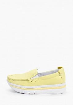 Слипоны, Shoiberg, цвет: желтый. Артикул: SH003AWIZQT0. Обувь / Слипоны