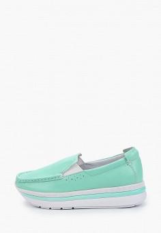 Слипоны, Shoiberg, цвет: бирюзовый. Артикул: SH003AWIZQT1. Обувь / Слипоны