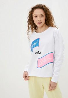 Свитшот, SH, цвет: белый. Артикул: SH021EWIYVM2. Одежда / Толстовки и свитшоты