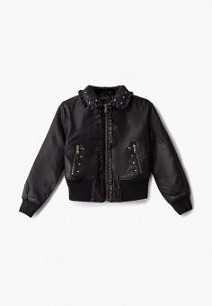 Куртка кожаная, Sisley, цвет: черный. Артикул: SI007EGBYSJ0. Девочкам / Одежда / Верхняя одежда / Куртки и пуховики