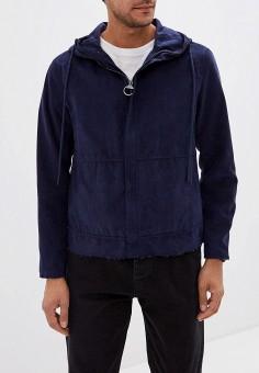 Куртка кожаная, Sisley, цвет: синий. Артикул: SI007EMFUGA6. Одежда / Верхняя одежда / Кожаные куртки