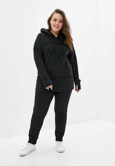 Костюм спортивный, Sitlly, цвет: черный. Артикул: SI029EWILWY9. Одежда / Одежда больших размеров