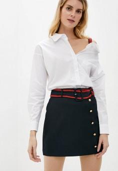 Рубашка, Silvian Heach, цвет: белый. Артикул: SI386EWIAIE1. Одежда / Блузы и рубашки / Рубашки