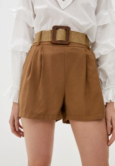 Шорты, Silvian Heach, цвет: коричневый. Артикул: SI386EWIAIE9. Одежда / Шорты