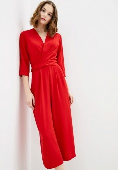 Комбинезон, Silvian Heach, цвет: красный. Артикул: SI386EWIQHP6. Одежда / Комбинезоны